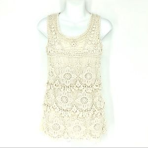 Simply Irresistible Women's Small Ivory Lace Tank